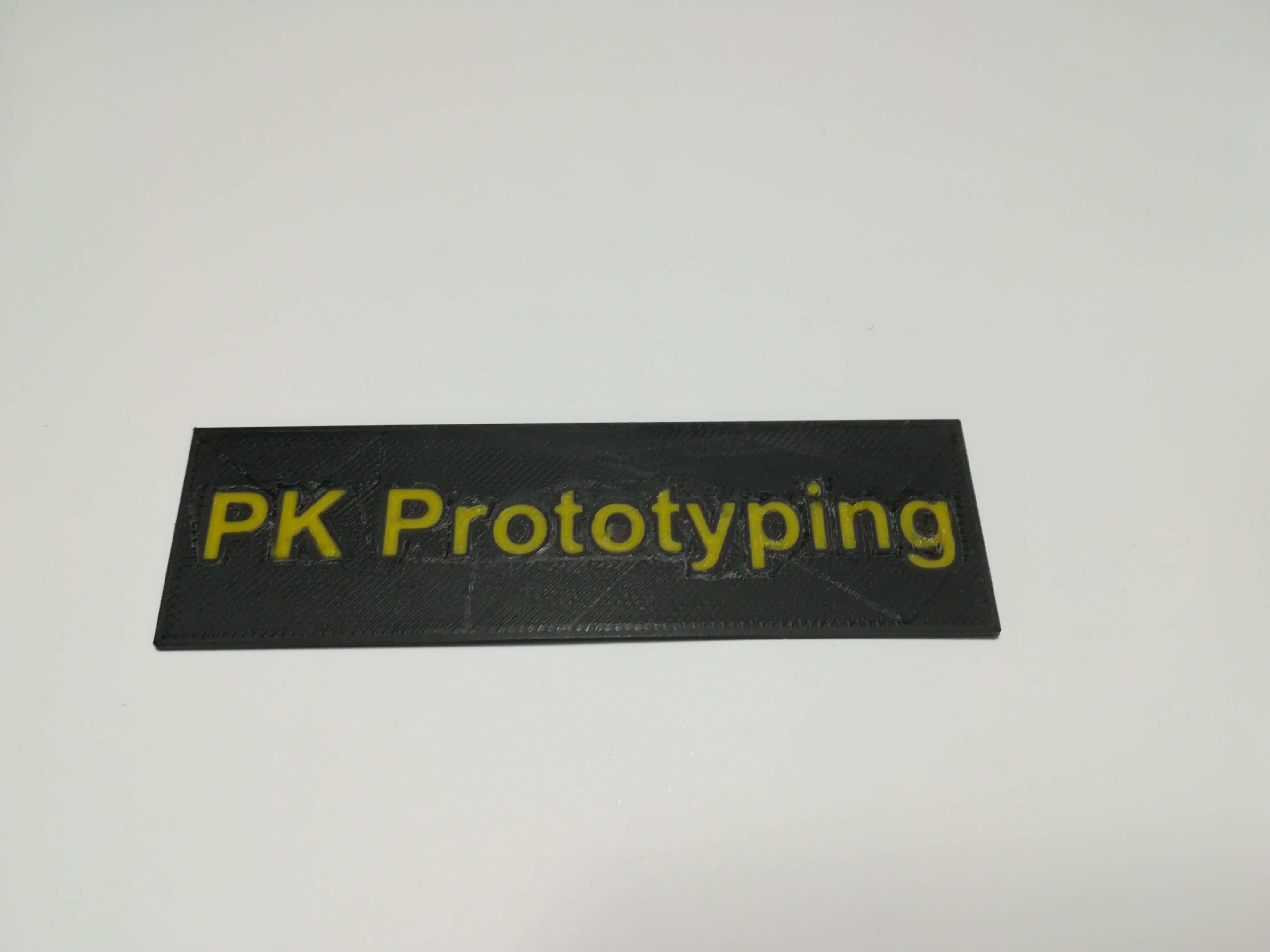 3D Druck Schrift aus 2 Farben